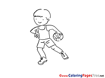 Colouring Page printable free Ball Boy
