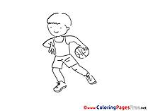 Colouring Page printable free Ball Boy