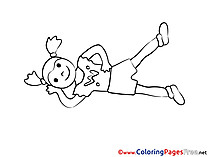 Colouring Page printable free Gymnastics