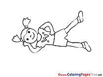 Colouring Page printable free Gymnastics