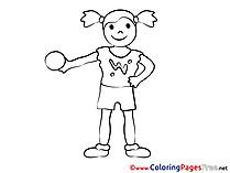 Download Colouring Sheet Girl Ball free