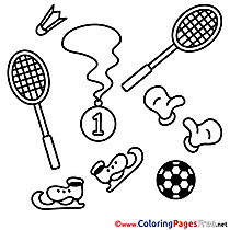 Equipment Children Coloring Pages free