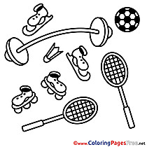 Equipment download printable Coloring Pages