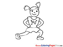 Exercises printable Coloring Pages for free