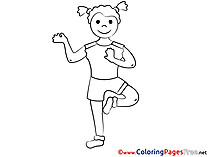 Fitness Children Coloring Pages free