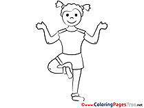 Fitness Coloring Pages for free