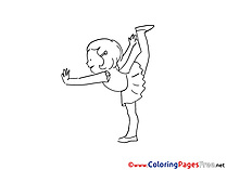 Fitness Coloring Sheets download free