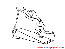 Gym Colouring Page printable free