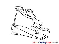 Gym Colouring Page printable free