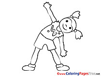 Gymnastics Kids free Coloring Page