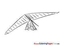 Hang-gliding free Colouring Page download