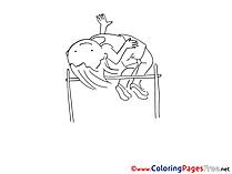 High Jump Coloring Sheets download free