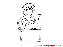 Jumps download printable Coloring Pages