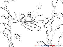 Kayak Children Coloring Pages free