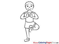 Kung-fu Coloring Sheets download free
