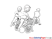 Motoball Colouring Sheet download free