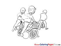 Motoball Colouring Sheet download free