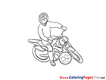Motoball Kids free Coloring Page