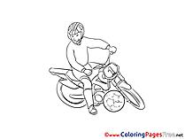 Motoball Kids free Coloring Page