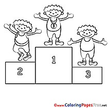 Olympics Coloring Sheets download free