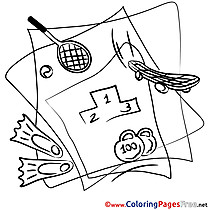 Paper Sport printable Coloring Pages for free