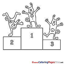 Podium Colouring Sheet download free