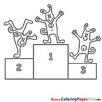 Podium Colouring Sheet download free