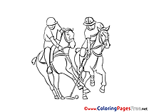 Polo free Colouring Page download
