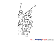 Polo printable Coloring Sheets download