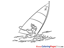 Sea Surfer free Colouring Page download