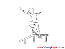 Skate Colouring Sheet download free