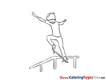 Skate Colouring Sheet download free