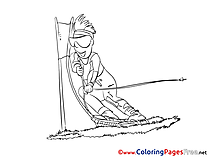 Ski free printable Coloring Sheets