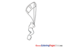 Sport Parachute Coloring Pages for free
