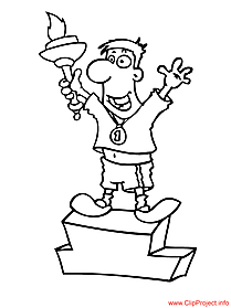 Sportsman - sport coloring page