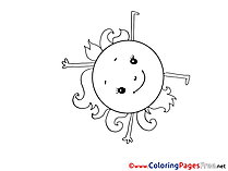 Sun printable Coloring Sheets download