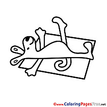 Sunbathe printable Coloring Sheets download