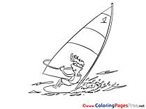 Surfer free printable Coloring Sheets