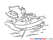 Swimming printable Coloring Pages for free