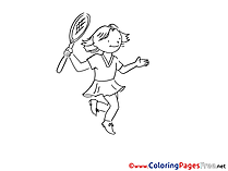 Tennis Coloring Pages for free