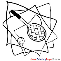 Tennis Coloring Sheets download free
