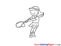 Tennis printable Coloring Sheets download
