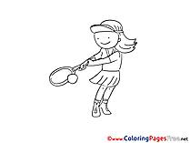 Tennis printable Coloring Sheets download