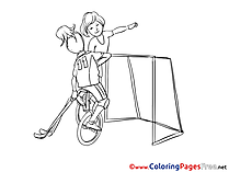 Unicycle Children Coloring Pages free