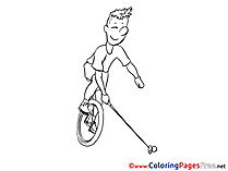 Unicycle download printable Coloring Pages