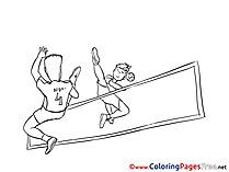 Volleyball Colouring Sheet download free