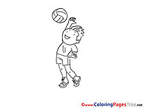 Volleyball download printable Coloring Pages
