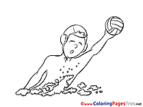 Water Polo for free Coloring Pages download