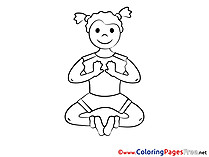Yoga for Children free Coloring Pages