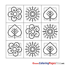 Decoration Kids Spring Coloring Pages